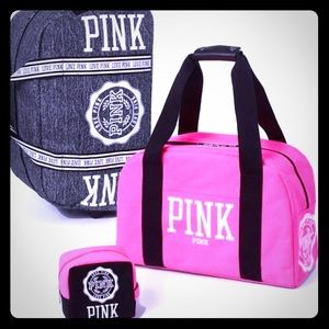 💕PINK VS VINTAGE Luggage/Travel Bags Set Of 2💕